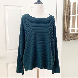Chalet Green Long sleeve top Size M